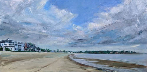 Painting image of Penfield Beach in Fairfield CT
