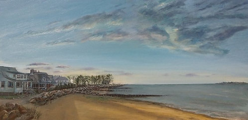Saugatuck Shores Beach oil painting by artist Jason Pritchard