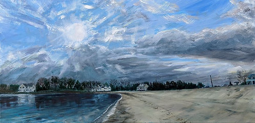 Hen Cove Beach painting-for-sale-in-Cape-Cod by artist-Jason-Pritchard