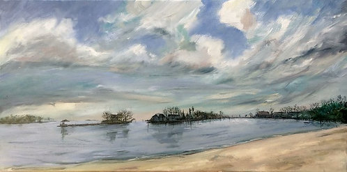 Byram Beach Oil Painting by artist Jason Pritchard