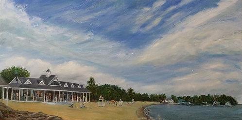 Weed Beach in Darien by artist Jason Pritchard