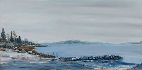 Barlows Landing Beach oil painting from scenes of Cape Cod by artist Jason Pritchard