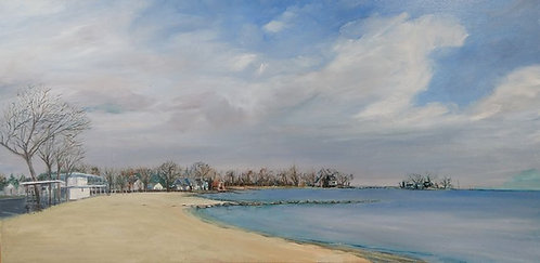 Cummings Beach Park in Stamford