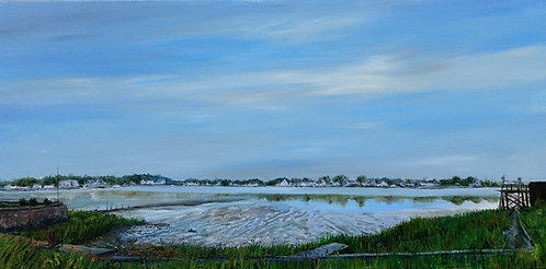 Baxter Beach in South Norwalk, artwork by Jason Pritchard