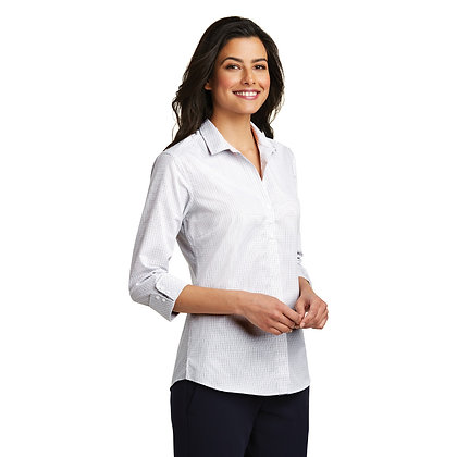 3/4 Sleeve Micro Tattersall Easy Care