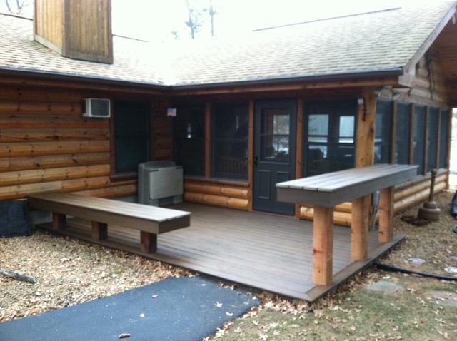 New patio area.