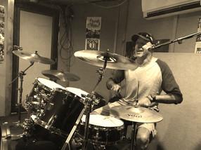 Glen on drums