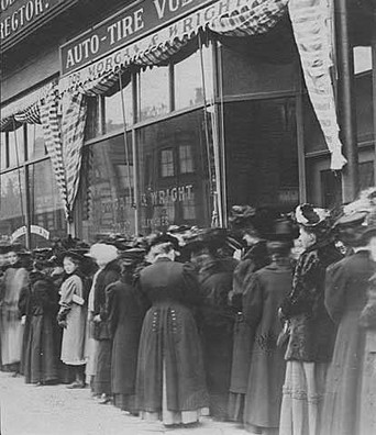 Women in line to vote, c 1929. The right to vote and be represented in government is one of the most important universal rights of humanity. There is no other basic right that defines emancipation, liberation, and citizenship more than the ability to ballot for what you believe. Using historic artifacts, video, and photographs from local collections – including our own – this exhibit will highlight milestones of voting rights for, among others, men, women, immigrants, and people of color in Washington County and Minnesota while critically examining social and political contexts.