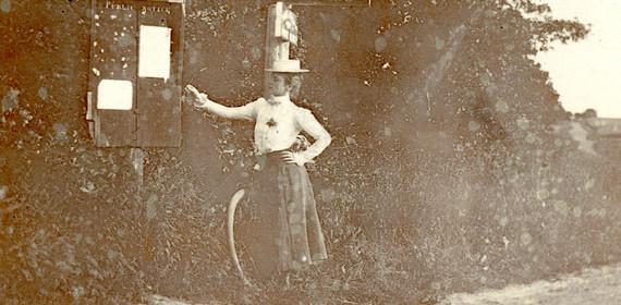 Historic Photo. Gerda [Lund] Wallblom ca. 1900