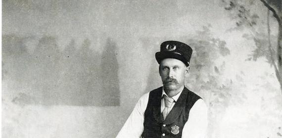 Bicycle - Stillwater fireman ca. 1890s -