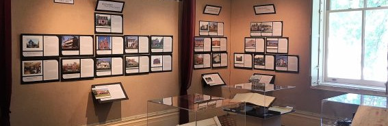 Installation of History of Architecture exhibition