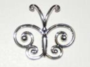 Sterling Silver Butterfly Logo Pendant