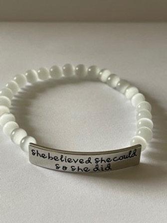 She Believed She Could - Bracelet