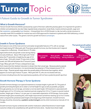 Growth in Turner Syndrom Turner Topic TSSUS