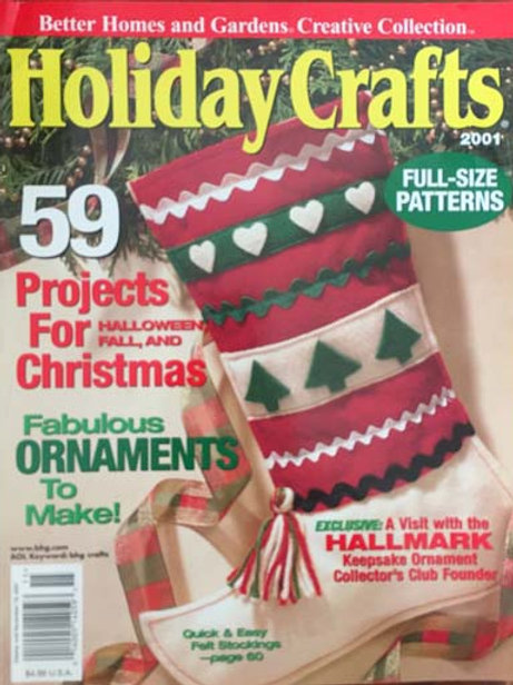 Better Homes and Gardens Holiday Crafts 2001