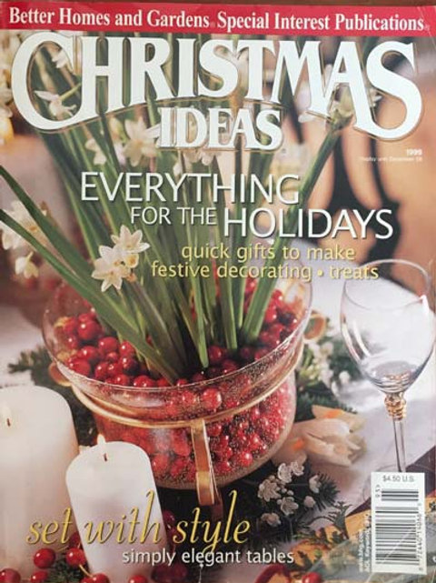 Better Homes and Gardens Christmas Ideas 1999