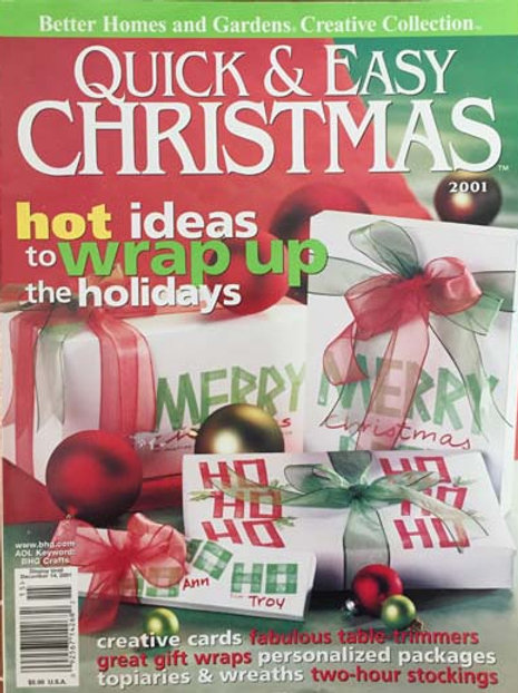 Better Homes and Gardens Quick & Easy Christmas 2001