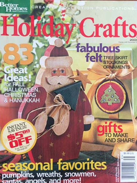 Better Homes and Gardens Holiday Crafts 2003