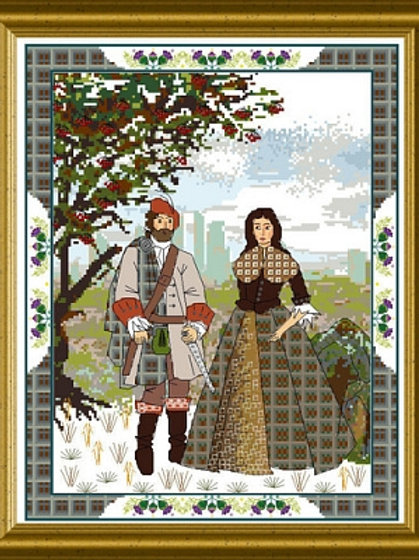 The Scottish Lovers Tapestry B