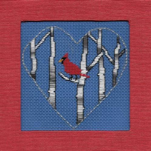 Cardinal in Birches | Northern Pine Designs