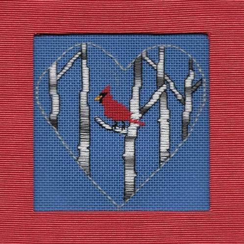 Cardinal in Birches