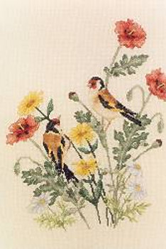European Goldfinches | Crossed Wing Collection