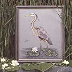Great Blue Heron | Crossed Wing Collection