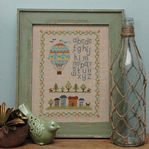 Air Balloon Vintage Sampler