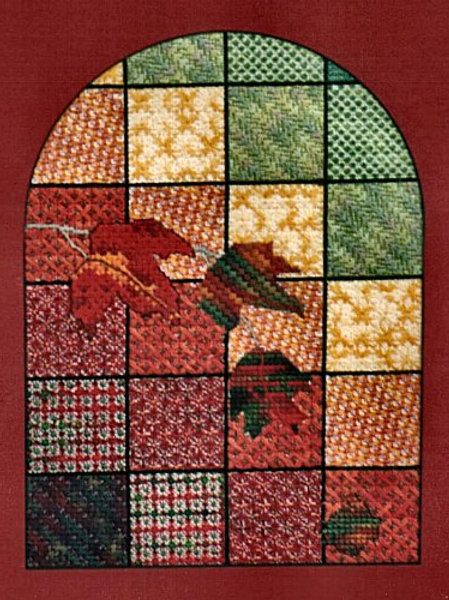Autumn Leaves Stained Glass Window