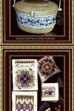 Nantucket Violets Basket