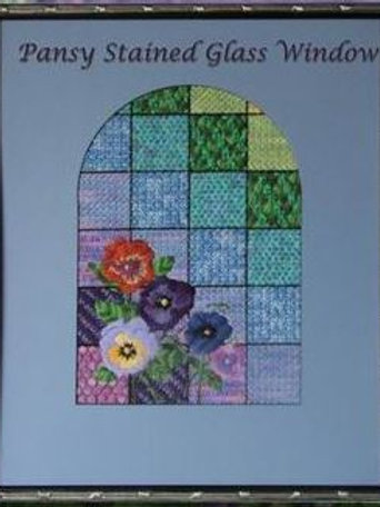 Pansy Stained Glass Window   Northern Pine Designs