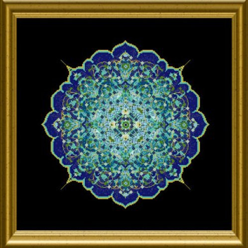 Blue Moroccan Lace Mandala
