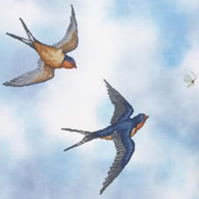 Barn Swallows | Crossed Wing Collection