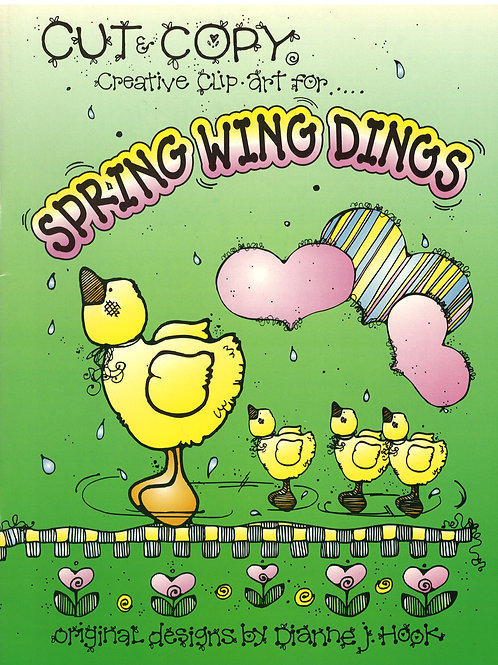 Cut & Copy Creative Clip Art for Spring Wing Dings