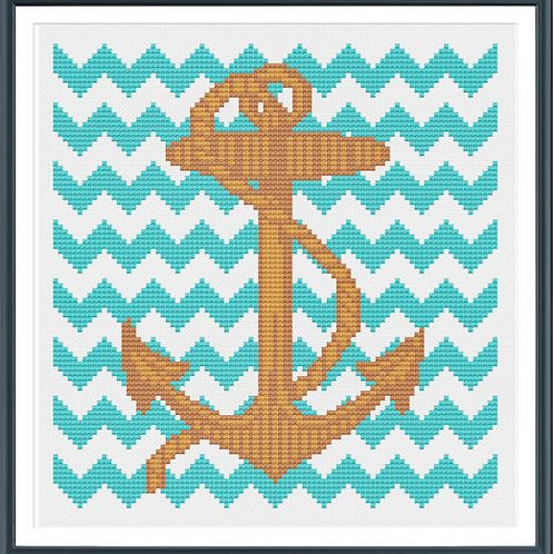 Anchor with Chevron | Tiny Modernist