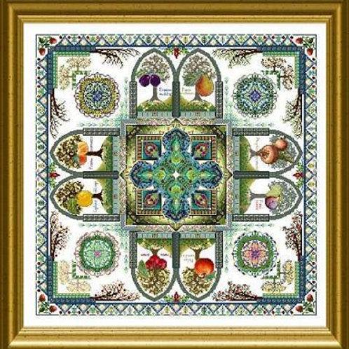 The Medieval Fruit Garden Mandala (Pomarium)