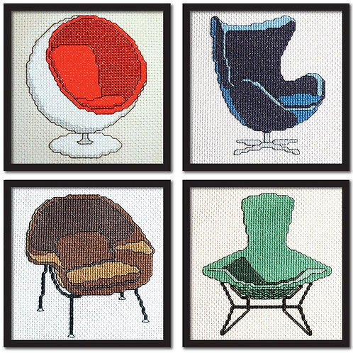 Set of 4 Modern Chairs