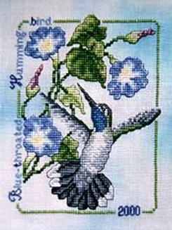 2000 Blue-Throated Hummingbird | Crossed Wing Collection