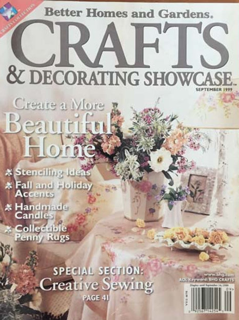Better Homes and Gardens Crafts & Decorating Showcase Sept 1999