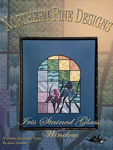 Iris Stained Glass Window | Northern Pine Designs