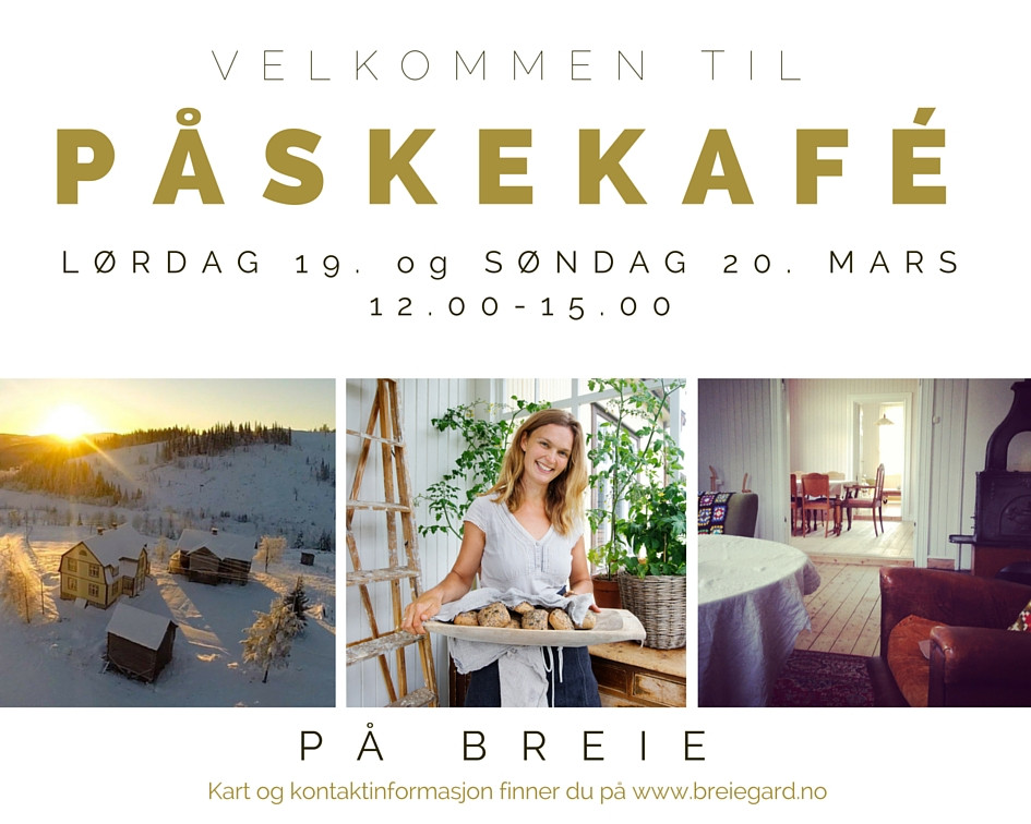 Åpen gårdskafé første helga i påska 2016