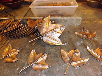 Process photos 20 Copper Floral Water Fl