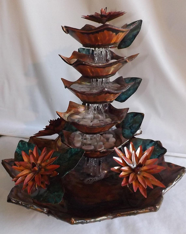 Copper Lotus Flower Rain Cascade (medium table size).jpg