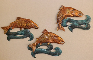 Copper Embossed Wall Hanging Art And Sculpture