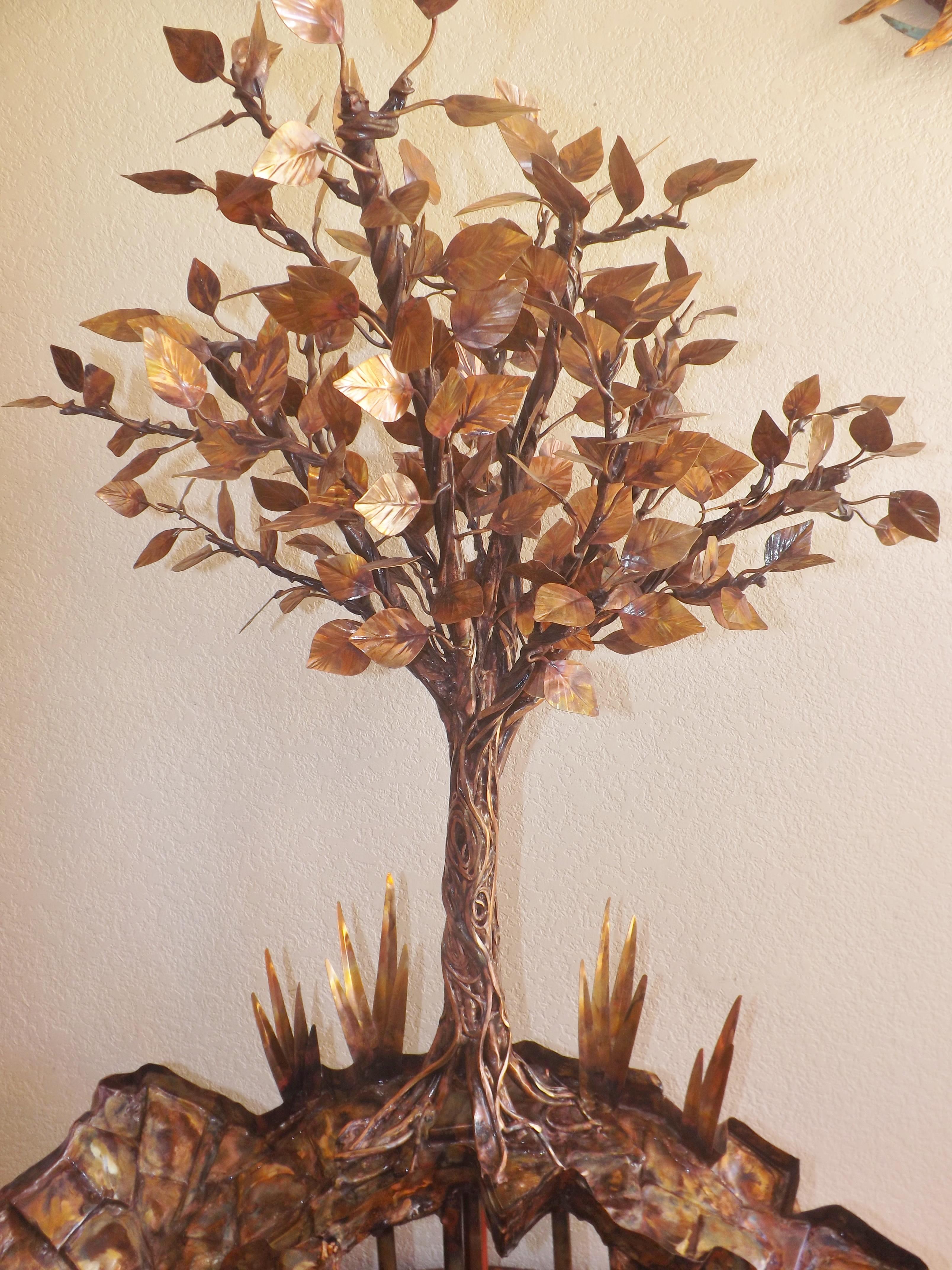Copper Tree Sculpture 1