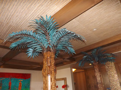 Copper Palm Tree Sculptures
