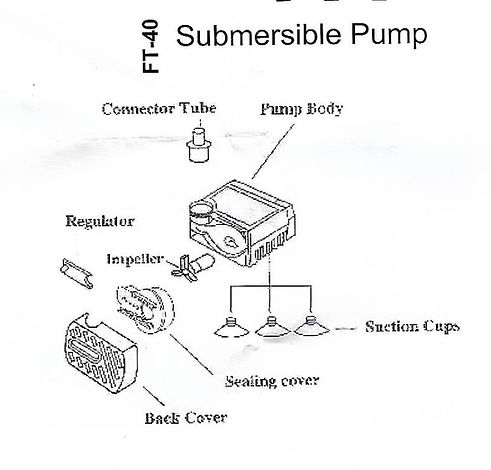 Small Water Fountain Submersible Pump Di