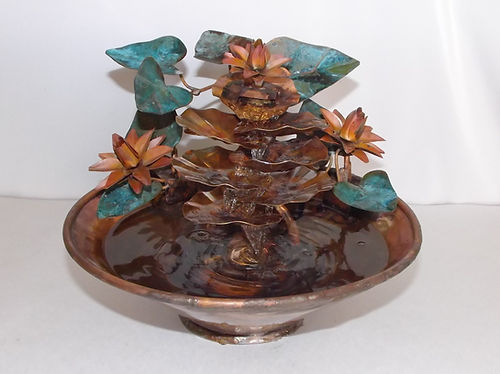 extra small copper table fountain water