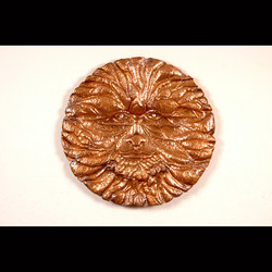 Copper Sun Oldman Winter, 40 Inch Diameter, Semi 3D Wall Sculpture