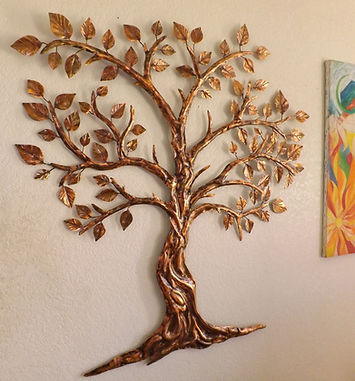 Copper Tree Art Wall Hanging Sculpture